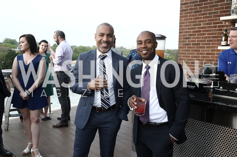 Jay Johnson, Gary Ellison. Photo by Tony Powell. The Graham Rooftop VIP Anniversary. April 21, 2016