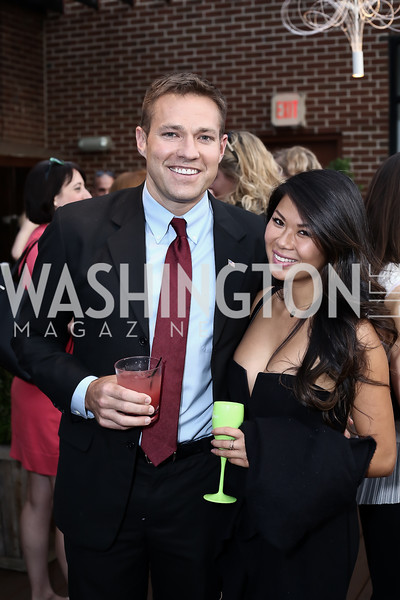 Andy Baldwin, Lindy Lin. Photo by Tony Powell. The Graham Rooftop VIP Anniversary. April 21, 2016