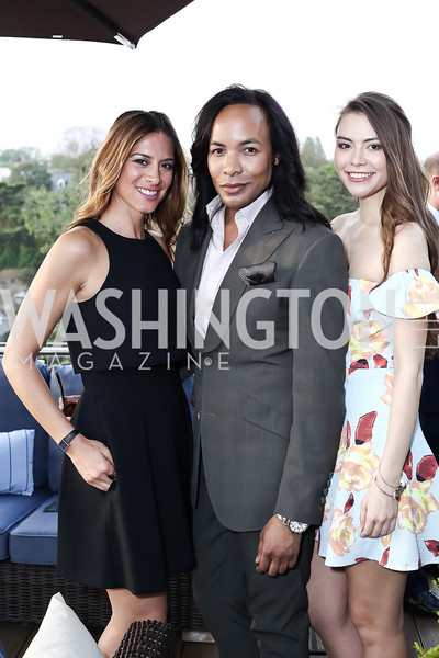 Lisa D'Angelo, Paul Wharton, Taiana Hale. Photo by Tony Powell. The Graham Rooftop VIP Anniversary. April 21, 2016