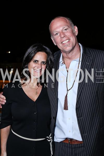 Rebecca Fishman, Freddie Wyatt. Photo by Tony Powell. The Graham Rooftop VIP Anniversary. April 21, 2016