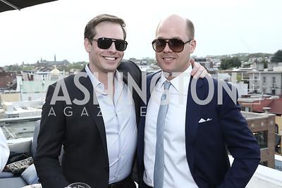 Alex LePere, Sean Randall. Photo by Tony Powell. The Graham Rooftop VIP Anniversary. April 21, 2016