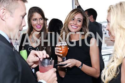 Bradleigh Batcheler, Erika Gutierrez. Photo by Tony Powell. The Graham Rooftop VIP Anniversary. April 21, 2016