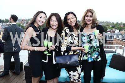 Aika Karimova, Annie Chan, Maresha Johnson, Arushi Tontsch. Photo by Tony Powell. The Graham Rooftop VIP Anniversary. April 21, 2016