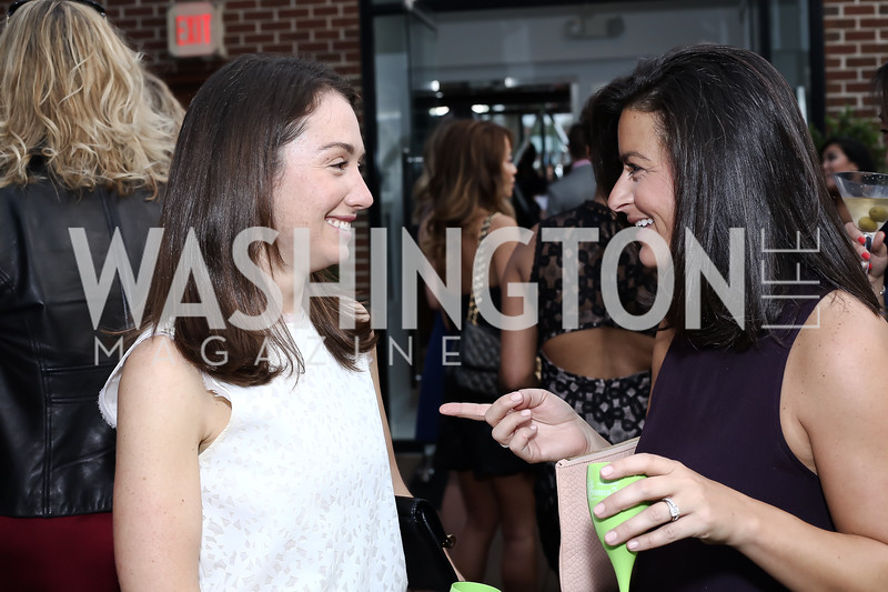 Meredith Balenske, Angie Collier. Photo by Tony Powell. The Graham Rooftop VIP Anniversary. April 21, 2016