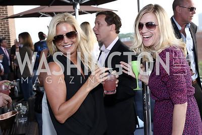 Victoria Michael, Jessica Bonaroti. Photo by Tony Powell. The Graham Rooftop VIP Anniversary. April 21, 2016