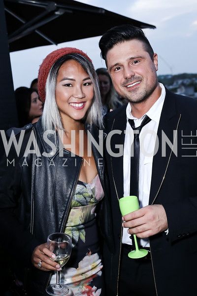 Teresa Yung, Onder Yavuz. Photo by Tony Powell. The Graham Rooftop VIP Anniversary. April 21, 2016