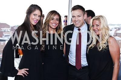 Bradleigh Batcheler, Erika Gutierrez, Andy Baldwin, Victoria Michael. Photo by Tony Powell. The Graham Rooftop VIP Anniversary. April 21, 2016