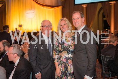 Jim Stansel, Kristina LaRocco, Larry LaRocco, The Lab School of Washington, Awards Gala, at the National Building Museum, November 17, 2016.  Photo by Ben Droz