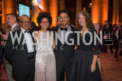 David Ray, Miles Ray , Taylor Ray, Christine Ray,  The Lab School of Washington, Awards Gala, at the National Building Museum, November 17, 2016.  Photo by Ben Droz