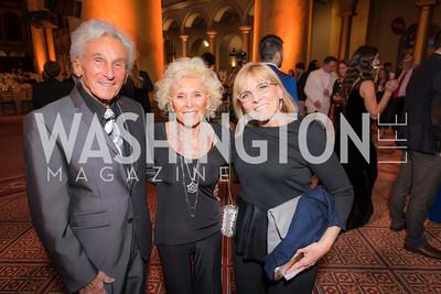 "Harold ""Rez"" Reznick, Cynthia Reznick, Robin Reznick, The Lab School of Washington, Awards Gala, at the National Building Museum, November 17, 2016.  Photo by Ben Droz"