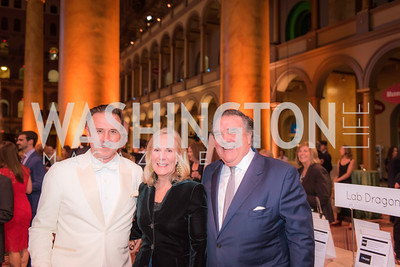David Arquette, Lynda Camalier, Davis Camalier, The Lab School of Washington, Awards Gala, at the National Building Museum, November 17, 2016.  Photo by Ben Droz