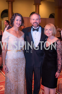 Teresa Byrne. Brian Byrne, Katherine Schantz,The Lab School of Washington, Awards Gala, at the National Building Museum, November 17, 2016.  Photo by Ben Droz