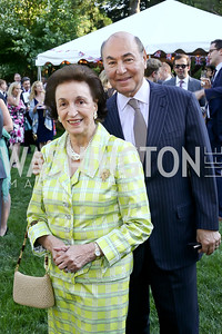 Lucky Roosevelt, Houda Farouki. Photo by Tony Powell. The Queen's 90th Birthday. Residence of Britain. June 8, 2016