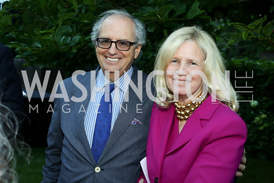 Norm Ornstein, Susan Blumemthal. Photo by Tony Powell. The Queen's 90th Birthday. Residence of Britain. June 8, 2016