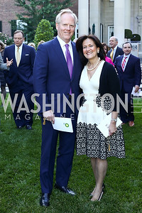 Tim and Anita McBride. Photo by Tony Powell. The Queen's 90th Birthday. Residence of Britain. June 8, 2016