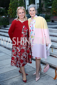 Rep. Debbie Dingell, Barbie Allbritton. Photo by Tony Powell. The Queen's 90th Birthday. Residence of Britain. June 8, 2016