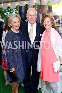 Jill Udall, Lloyd Hand, Maxine Isaacs. Photo by Tony Powell. The Queen's 90th Birthday. Residence of Britain. June 8, 2016