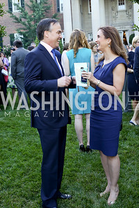 Kent Lucken, Betsy Fischer. Photo by Tony Powell. The Queen's 90th Birthday. Residence of Britain. June 8, 2016