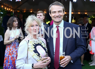 Wilhelmina Wilson, Gavin Wilson. Photo by Tony Powell. The Queen's 90th Birthday. Residence of Britain. June 8, 2016