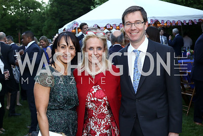 Elena Allbritton, Rep. Debbie Dingell, Robert Allbritton. Photo by Tony Powell. The Queen's 90th Birthday. Residence of Britain. June 8, 2016