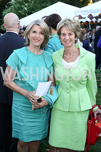 Kathleen Matthews, Kathleen Kennedy Townsend. Photo by Tony Powell. The Queen's 90th Birthday. Residence of Britain. June 8, 2016