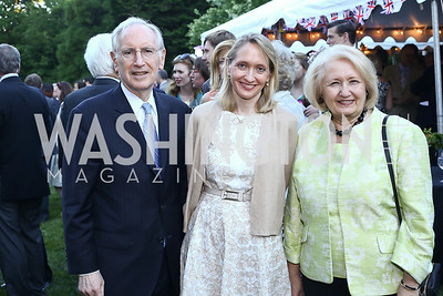 Phil, Alexa, and Melanne Verveer. Photo by Tony Powell. The Queen's 90th Birthday. Residence of Britain. June 8, 2016