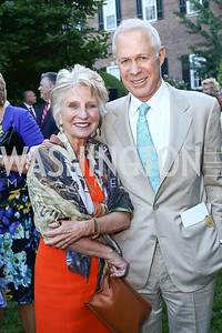 Jane Harman, Bob Dickie. Photo by Tony Powell. The Queen's 90th Birthday. Residence of Britain. June 8, 2016