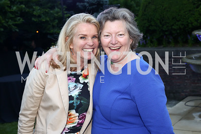 Katty Kay, Amanda Downes. Photo by Tony Powell. The Queen's 90th Birthday. Residence of Britain. June 8, 2016