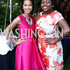 Kate Greer, White House Social Secretary Deesha Dyer. Photo by Tony Powell. The Queen's 90th Birthday. Residence of Britain. June 8, 2016