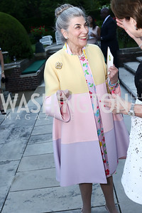 Barbie Allbritton. Photo by Tony Powell. The Queen's 90th Birthday. Residence of Britain. June 8, 2016