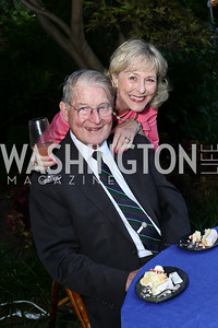 William and Lynda Webster. Photo by Tony Powell. The Queen's 90th Birthday. Residence of Britain. June 8, 2016
