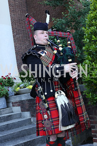 Bagpiper Ross Fraser. Photo by Tony Powell. The Queen's 90th Birthday. Residence of Britain. June 8, 2016