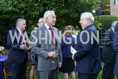 Amb. Richard Burt, Russia Amb. Sergei Kislyak. Photo by Tony Powell. The Queen's 90th Birthday. Residence of Britain. June 8, 2016