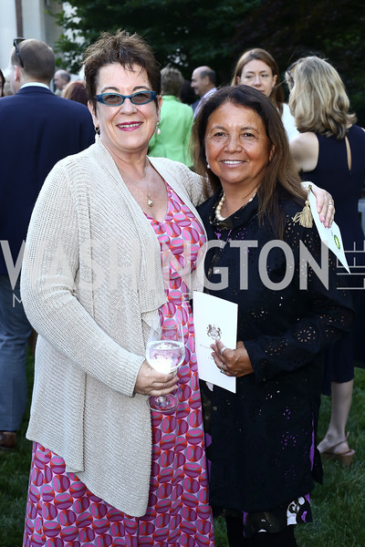 Molly Smith and Suzanne Blue Star Boy. Photo by Tony Powell. The Queen's 90th Birthday. Residence of Britain. June 8, 2016