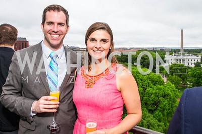 Benjamin Driscoll, Alexandra Hamilton. Photo by Alfredo Flores. Thomson Reuters Correspondents' Brunch. Hay Adams Hotel-2.CR2