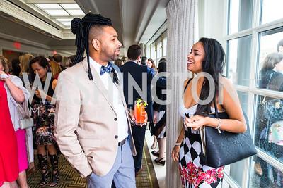 Adrian Loving, Emerald Khan. Photo by Alfredo Flores. Thomson Reuters Correspondents' Brunch. Hay Adams Hotel.CR2