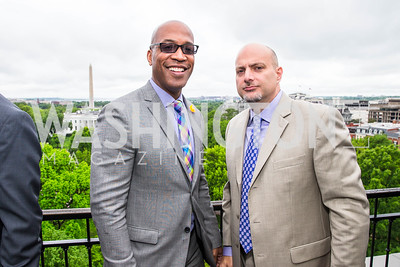 Barnette Holston Jr., Troy Peterbrink. Photo by Alfredo Flores. Thomson Reuters Correspondents' Brunch‏. Hay Adams Hotel. May 1, 2016