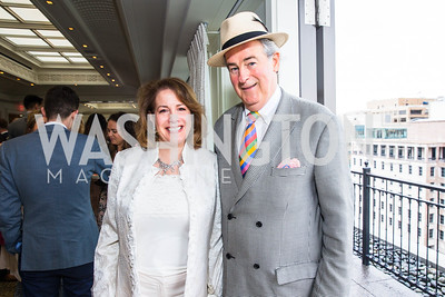Betsy Glick, Jake McGuire. Photo by Alfredo Flores. Thomson Reuters Correspondents' Brunch. Hay Adams Hotel. May 1, 2016