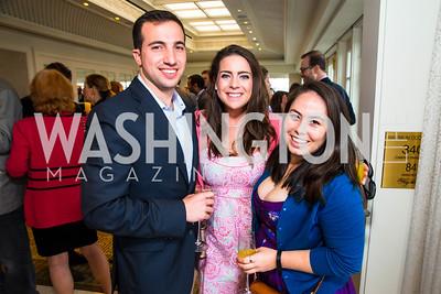 Adam Latorraca, Angela Chiappetta, Diandra Brennan. Photo by Alfredo Flores. Thomson Reuters Correspondents' Brunch. Hay Adams Hotel. May 1, 2016