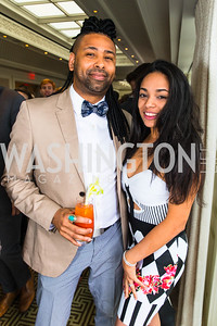Adrian Loving, Emerald Khan. Photo by Alfredo Flores. Thomson Reuters Correspondents' Brunch. Hay Adams Hotel. May 1, 2016
