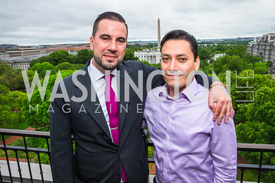 Pablo Manriquez, Luis Miranda. Photo by Alfredo Flores. Thomson Reuters Correspondents' Brunch‏. Hay Adams Hotel. May 1, 2016