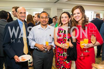 Michael Chertoff, Rob Colorina, Isabel Sepulveda, Courtney Cooper. Photo by Alfredo Flores. Thomson Reuters Correspondents' Brunch. Hay Adams Hotel. May 1, 2016