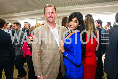 Greg Nelson, Sher Mathew. Photo by Alfredo Flores. Thomson Reuters Correspondents' Brunch. Hay Adams Hotel.CR2