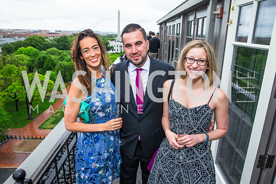 Laura Bassett, Pablo Manriquez, Elise Foley. Photo by Alfredo Flores. Thomson Reuters Correspondents' Brunch‏. Hay Adams Hotel. May 1, 2016