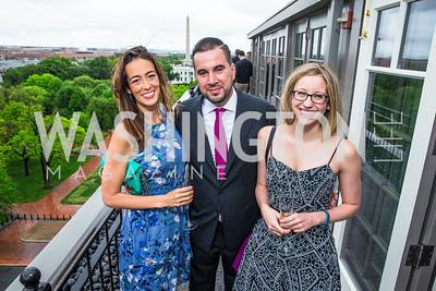 Laura Bassett, Pablo Manriquez, Elise Foley. Photo by Alfredo Flores. Thomson Reuters Correspondents' Brunch. Hay Adams Hotel. May 1, 2016