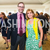Steve Adler, Paula Dobriansky. Photo by Alfredo Flores. Thomson Reuters Correspondents' Brunch‏. Hay Adams Hotel. May 1, 2016