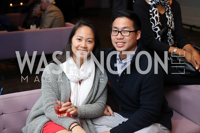 Lindsay Nguyen, Daniel Tran. Photo by Tony Powell. Time Out Grand Seiko Event. Malmaison. October 25, 2016