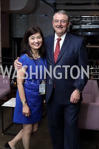 Linda and Steve Hammalian. Photo by Tony Powell. Time Out Grand Seiko Event. Malmaison. October 25, 2016