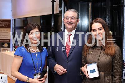 Linda and Steve Hammalian, Irina Cempa. Photo by Tony Powell. Time Out Grand Seiko Event. Malmaison. October 25, 2016