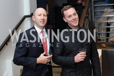 Aubrey Rosser, Justin Fisher. Photo by Tony Powell. Time Out Grand Seiko Event. Malmaison. October 25, 2016